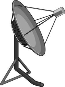 Satellite Dish Grey