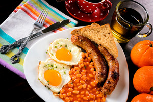 Sausage And Eggs On The Plate