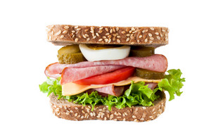 Sausage Sandwich Isolated