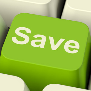 Save Computer Key As Symbol For Discounts Or Promotion