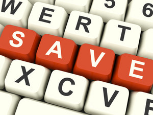 Save Computer Keys As Symbol For Discounts Or Promotion