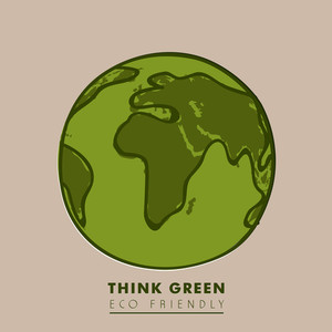 Save Earth Concept With Text Think Green