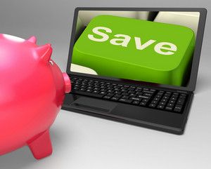 Save Key On Laptop Showing Price Reductions