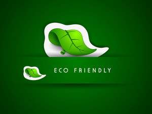 Save Nature Concept With Green Keaf And Text Eco Friendly