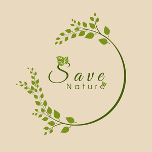 Save Nature Concept With Green Leaves