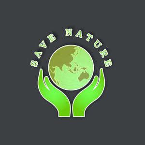 Save Nature Concept With Human Hands Holding Globe