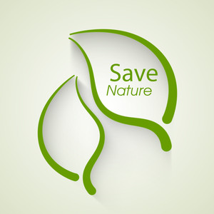 Save Nature Concept With Illustration Of Green Leaves