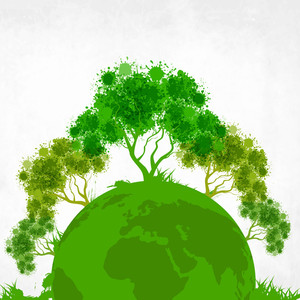 Save The Earth Concept With Green Trees