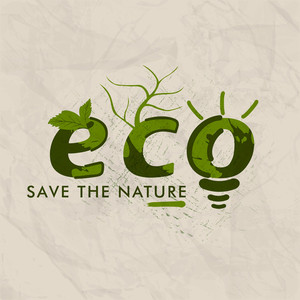 Save The Nature Concept With Green Leaves.