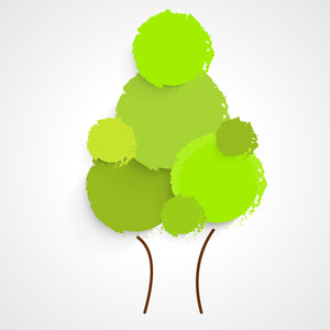 Save The Nature Concept With Green Tree