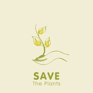 Save The Plants Concept With Human Hands Holding Plant