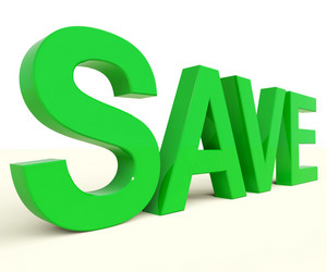 Save Word As Symbol For Discounts Or Promotion