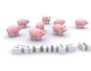 Savings And Piggy Bank