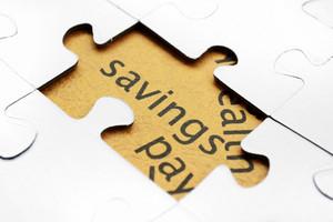 Savings Puzzle Concept