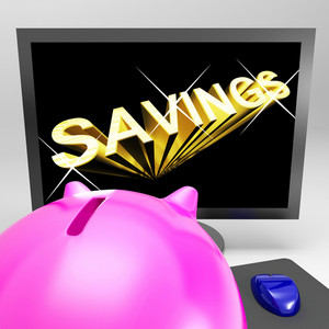 Savings Screen Shows Growth Save And Invest