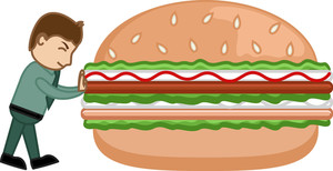 Say No To Junk Food - Cartoon Business Vector Character