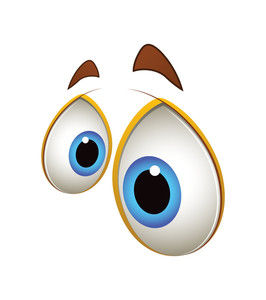 Scared Cartoon Eyes Expression Vector