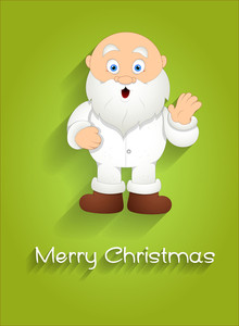 Scared Cartoon Santa Christmas Greeting