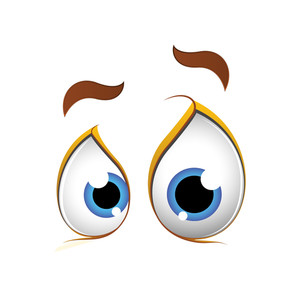 Scared Funny Cartoon Eyes