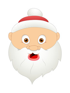 Scared Funny Santa Face