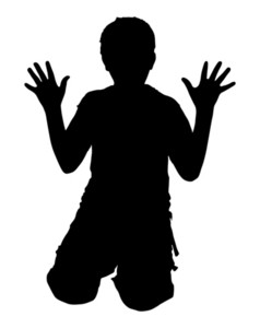 Scared Kid Shape