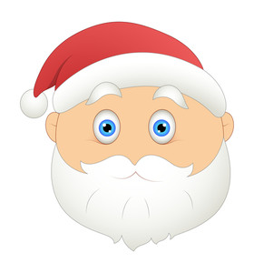 Scared Santa Face Vector