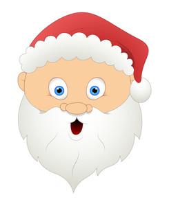 Scared Santa Face