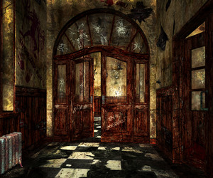 Scary Asylum Interior Background