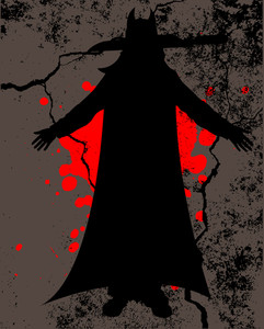Scary Halloween Dracula Silhouette