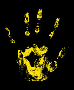 Scary Halloween Hand Vector