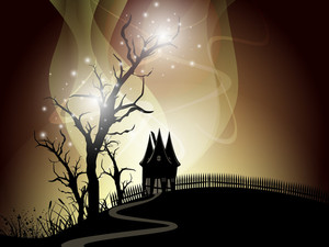 Scary Halloween Night Background