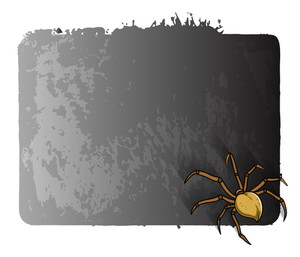 Scary Spider Halloween Banner
