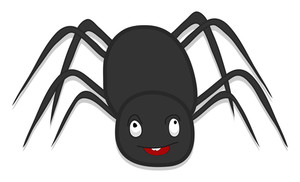Scary Spider Halloween Cartoon