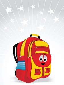 School Bag For Kid Vector Illustration