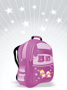 School Bag For Kid Vector Wallpaper