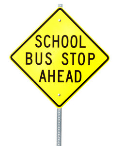 School Bus Stop Signboard