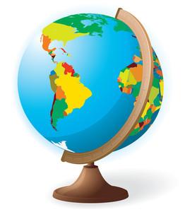 School Globe. Vector.