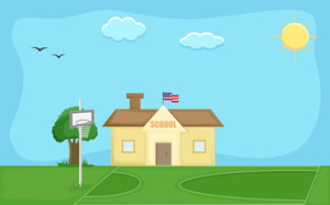 School Vector Background