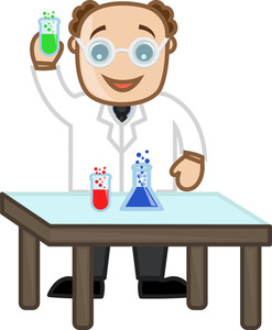 Scientist - Vector Character Cartoon Illustration