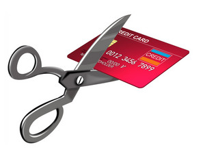 Scissors Cutting Credit Card