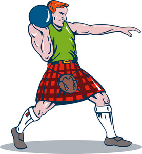 Scottish Playing Shotput