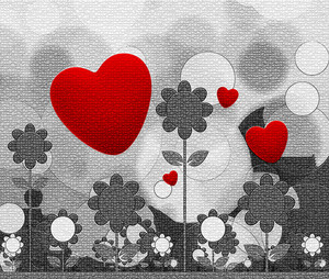 Scrap Booking Heart Background