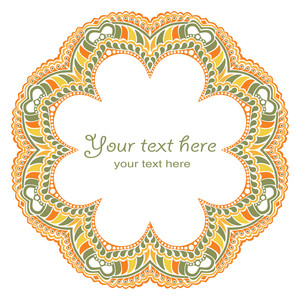 Scrapbook Design Round Element