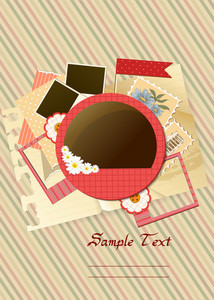 Scrapbook Elements Vector Illustration