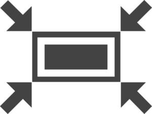 Screen Scale Glyph Icon