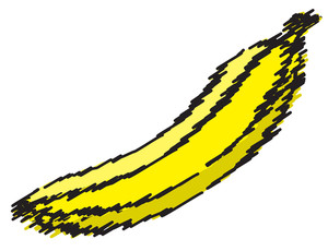 Scribble Banana Design