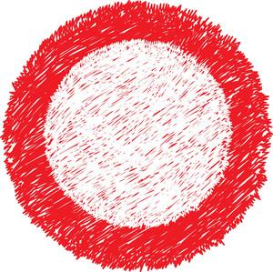 Scribble Circle Frame