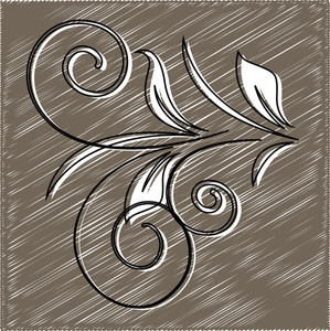 Scribble Retro Flourish Element Background