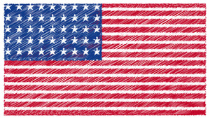 Scribble Usa Flag