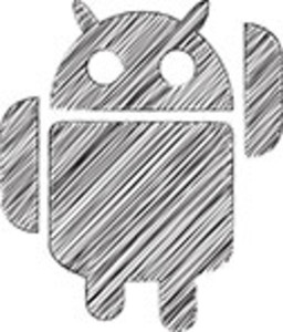 Scribbled Android Icon On White Background